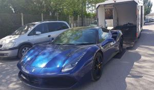 BSM Covered Enclosed Car Transport London England Ferrari Sport