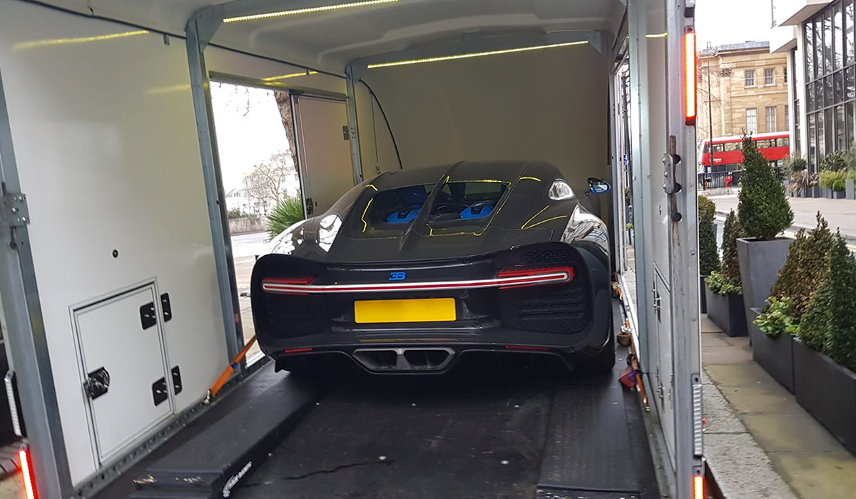 BSM Covered Enclosed Car Transport London England Buggati