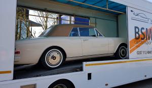 BSM Covered Enclosed Car Transport London England Vintage