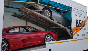BSM Covered Enclosed Car Transport London England Classic Sport Cars Multitransport
