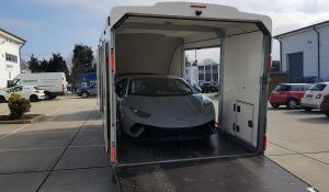 BSM Covered Enclosed Car Transport London England Lamborghini Sport