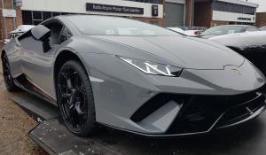 BSM Covered Enclosed Car Transport London England Lamborghini
