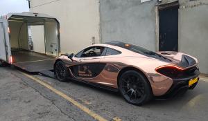 BSM Covered Enclosed Car Transport London England McLaren Sport Muscle