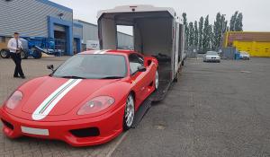 BSM Covered Enclosed Car Transport London England R Ferrari