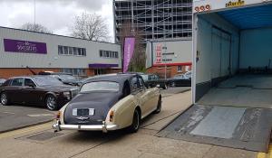 BSM Covered Enclosed Car Transport London England Classic Vintage