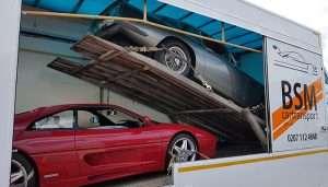 BSM Covered Enclosed Car Transport London England 2 cars